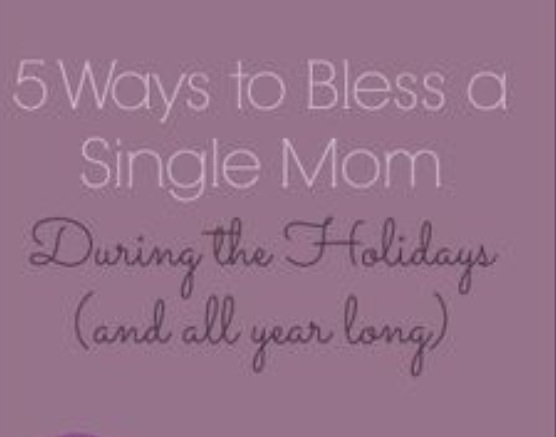 Single mom holiday help